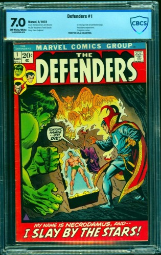 Item: Defenders #1 CBCS FN/VF 7.0 Off White to White Marvel Comics