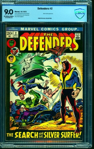 Item: Defenders #2 CBCS VF/NM 9.0 Off White to White Marvel Comics