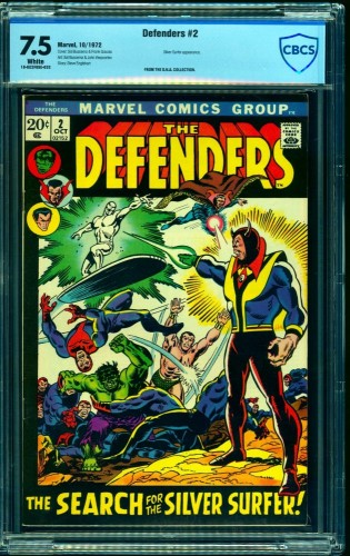 Item: Defenders #2 CBCS VF- 7.5 White Pages Marvel Comics