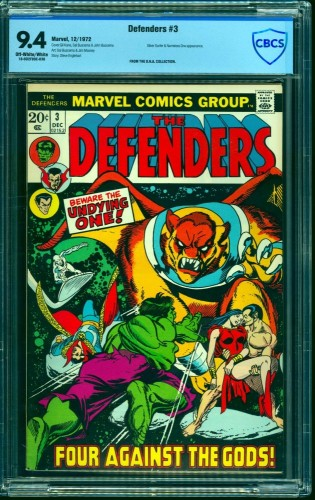 Item: Defenders #3 CBCS NM 9.4 Off White to White Marvel Comics