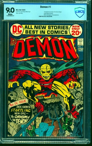 Item: Demon #1 CBCS VF/NM 9.0 White Pages