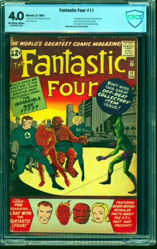 Item: Fantastic Four #11 CBCS VG 4.0 Off White to White Marvel Comics