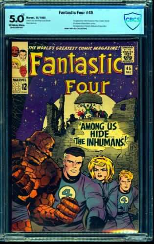 Item: Fantastic Four #45 CBCS VG/FN 5.0 Off White to White Marvel Comics
