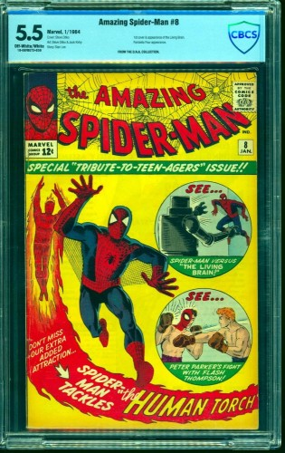 Item: Amazing Spider-Man #8 CBCS FN- 5.5 Off White to White Marvel Comics Spiderman
