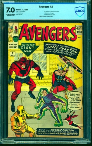 Item: Avengers #2 CBCS FN/VF 7.0 Off White to White Marvel Comics Thor Captain America
