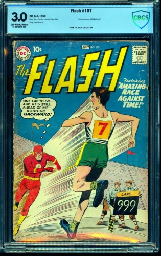 Item: Flash #107 CBCS GD/VG 3.0 Off White to White DC Comics