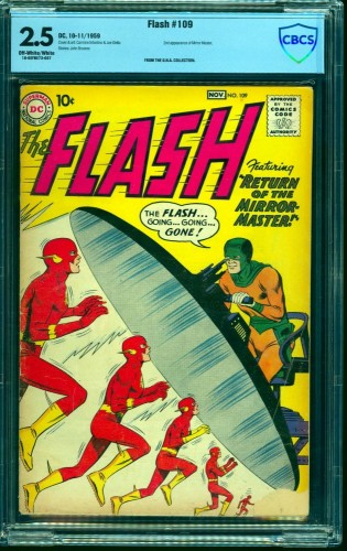 Item: Flash #109 CBCS GD+ 2.5 Off White to White DC Comics
