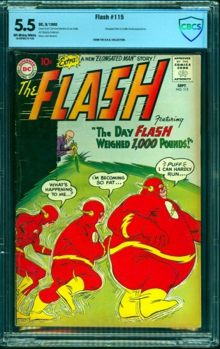 Item: Flash #115 CBCS FN- 5.5 Off White to White DC Comics