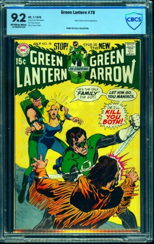 Item: Green Lantern #78 CBCS NM- 9.2 Off White to White DC Comics