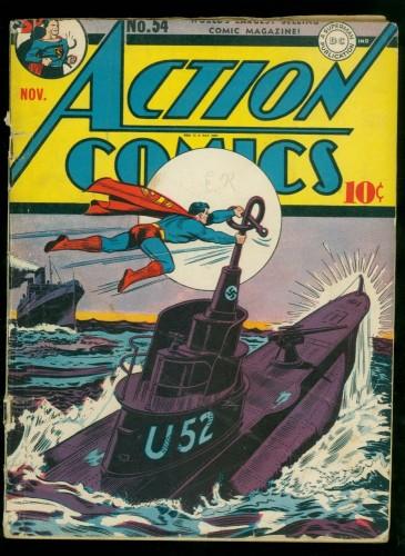 Item: Action Comics #54 GD+ 2.5