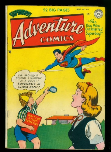 Item: Adventure Comics #168 VG+ 4.5 DC Superman
