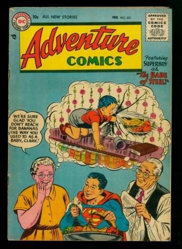 Item: Adventure Comics #221 VG/FN 5.0 DC Superman