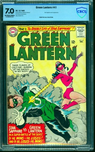 Item: Green Lantern #41 CBCS FN/VF 7.0 Off White to White DC Comics