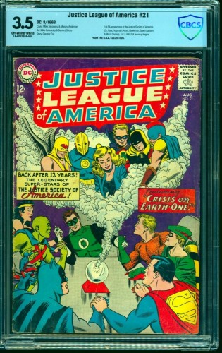 Item: Justice League Of America #21 CBCS VG- 3.5 Off White to White DC Comics