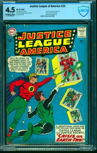 Item: Justice League Of America #22 CBCS VG+ 4.5 Off White to White DC Comics