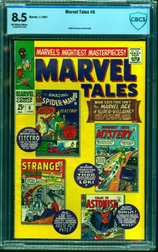 Item: Marvel Tales #6 CBCS VF+ 8.5 Off White to White