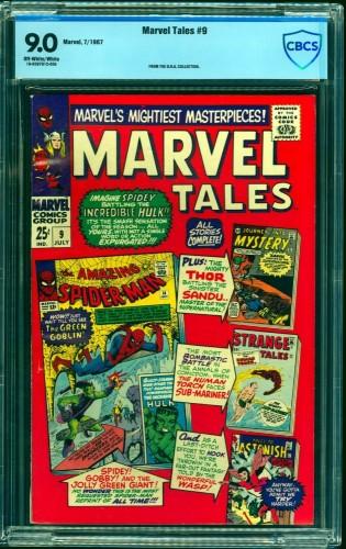 Item: Marvel Tales #9 CBCS VF/NM 9.0 Off White to White
