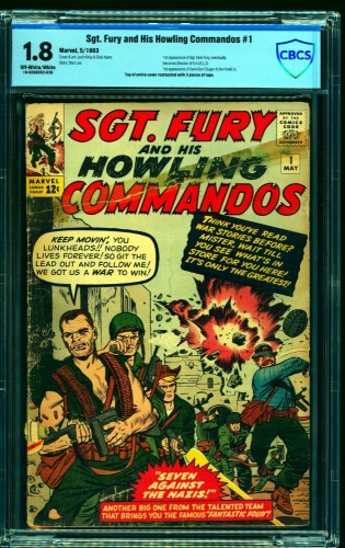 Item: Sgt. Fury and His Howling Commandos #1 CBCS GD- 1.8 Off White to White