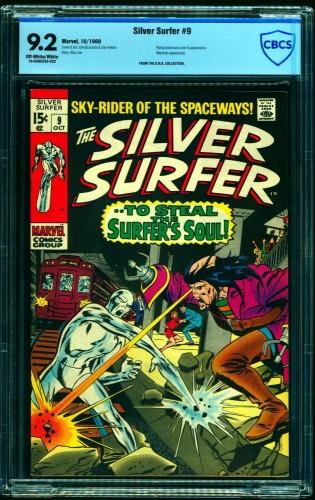 Item: Silver Surfer #9 CBCS NM- 9.2 Off White to White Marvel Comics