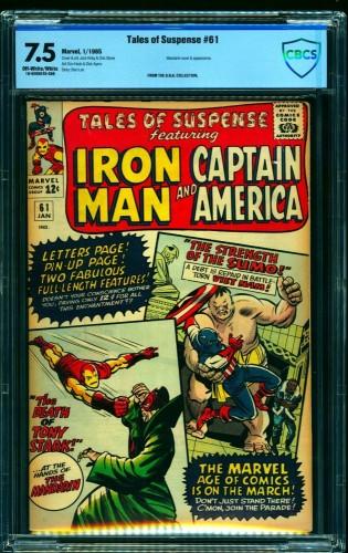 Item: Tales Of Suspense #61 CBCS VF- 7.5 Off White to White Iron Man