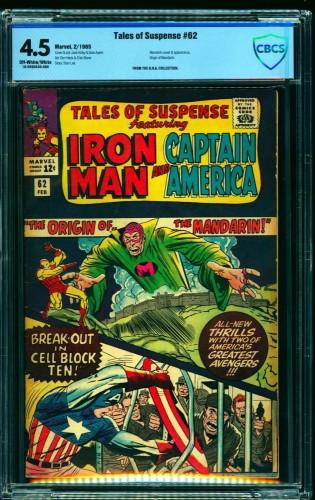 Item: Tales Of Suspense #62 CBCS VG+ 4.5 Off White to White Iron Man