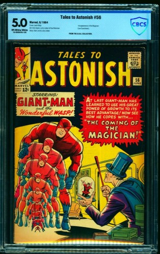 Item: Tales To Astonish #56 CBCS VG/FN 5.0 Off White to White giant ant man hulk