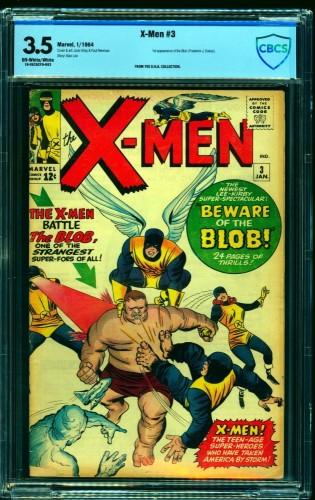 Item: X-Men #3 CBCS VG- 3.5 Off White to White Marvel Comics