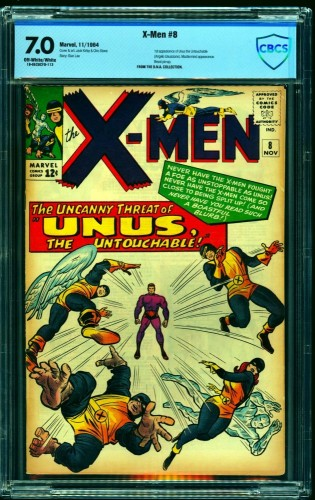 Item: X-Men #8 CBCS FN/VF 7.0 Off White to White Marvel Comics