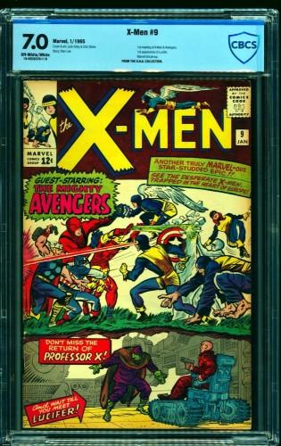 Item: X-Men #9 CBCS FN/VF 7.0 Off White to White Marvel Comics