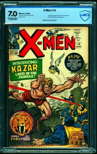 Item: X-Men #10 CBCS FN/VF 7.0 Off White to White Marvel Comics
