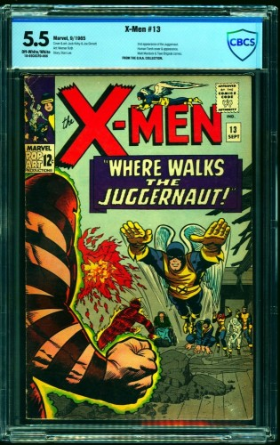 Item: X-Men #13 CBCS FN- 5.5 Off White to White Marvel Comics