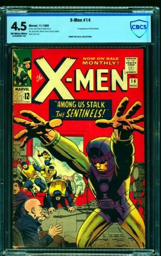 Item: X-Men #14 CBCS VG+ 4.5 Off White to White Marvel Comics