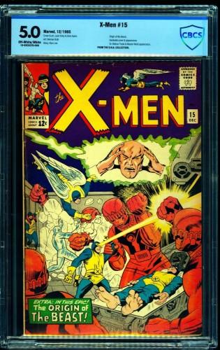 Item: X-Men #15 CBCS VG/FN 5.0 Off White to White Marvel Comics