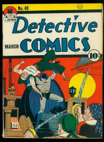 Item: Detective Comics #49 FN+ 6.5 White Pages Batman DC