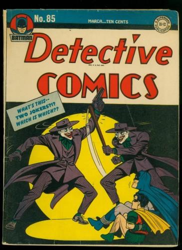 Item: Detective Comics #85 VG+ 4.5 Batman DC