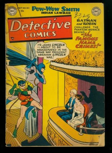 Item: Detective Comics #183 FA/GD 1.5