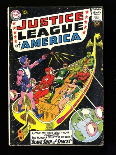 Item: Justice League Of America #3 GD/VG 3.0 DC Comics