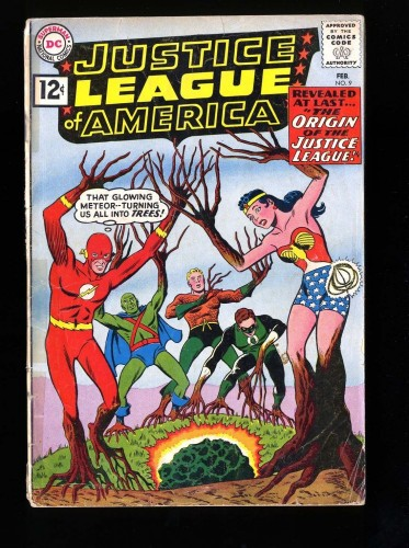 Item: Justice League Of America #9 GD- 1.8 DC Comics