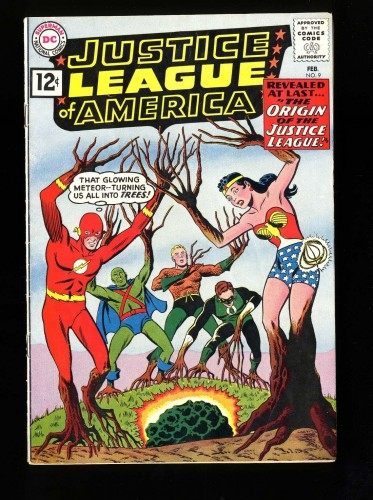 Item: Justice League Of America #9 VG/FN 5.0 DC Comics