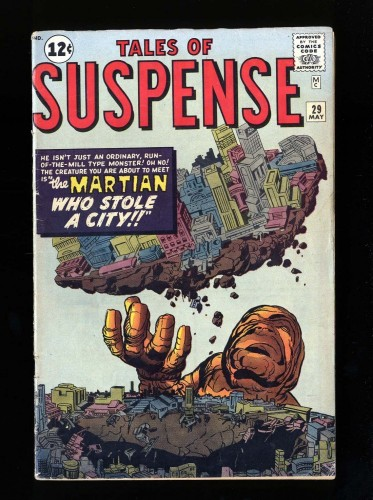 Item: Tales Of Suspense #29 VG 4.0