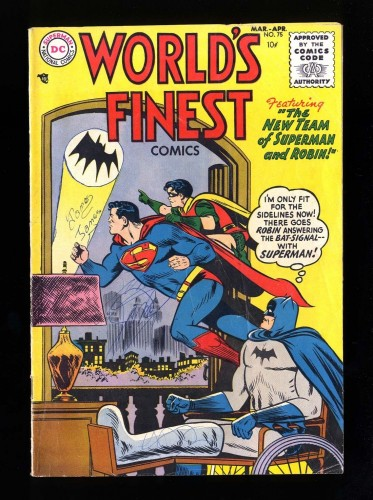 Item: World's Finest Comics #75 VG 4.0