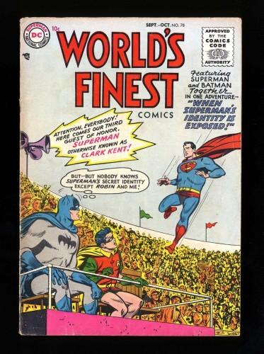 Item: World's Finest Comics #78 VG 4.0