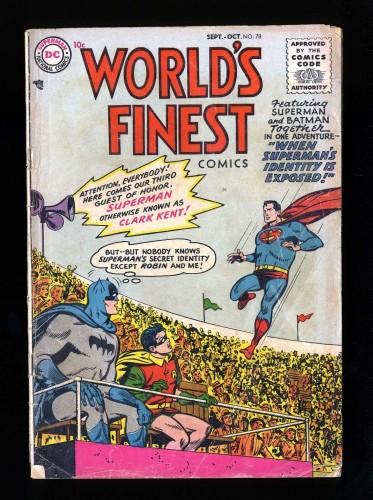 Item: World's Finest Comics #78 GD 2.0