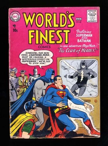 Item: World's Finest Comics #89 FA/GD 1.5