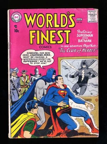 Item: World's Finest Comics #89 GD+ 2.5