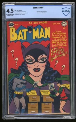 Item: Batman #65 CBCS VG+ 4.5 Off White to White