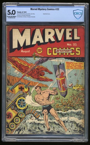 Item: Marvel Mystery Comics #22 CBCS VG/FN 5.0 Cream To Off White Timely