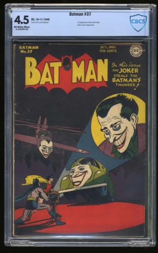 Item: Batman #37 CBCS VG+ 4.5 Off White to White