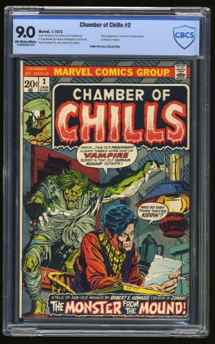 Item: Chamber Of Chills #2 CBCS VF/NM 9.0 Off White to White