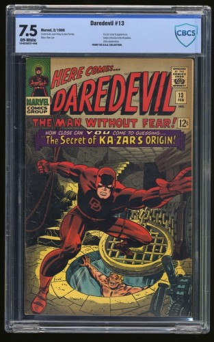 Item: Daredevil #13 CBCS VF- 7.5 Off-White